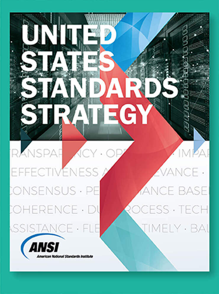Cover of the United States Standards Strateg, published by ANSi in 2020.